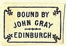 John Gray [binder], Edinburgh, Scotland (20mm x 14mm). Courtesy of S. Loreck.