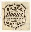 S.R. Gray, Books & Stationery, Albany, NY (16mm x 16mm)