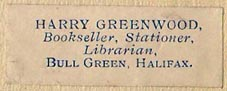 Harry Greenwood, Halifax, England (36mm x 12mm). Courtesy of Nicholas Forster.