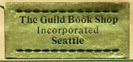 The Guild Book Shop, Seattle, Washington (30mm x 13mm, ca.1948)