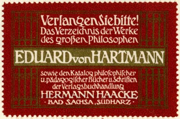 Hermann Haacke, Verlagsbuchhandlung, Bad Sachsa, Germany (61mm x 40mm, ca.1906)