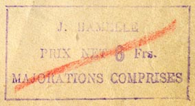 J. Hamelle, Paris, France (inkstamp, 46mm x 24mm). Courtesy of R. Behra.