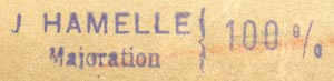 J. Hamelle, Paris, France (inkstamp, 48mm x 9mm). Courtesy of R. Behra.