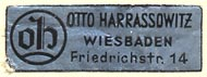 Otto Harrassowitz, Wiesbaden, Germany (30mm x 10mm)