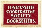 Harvard Coöperative Society, Booksellers, Cambridge, Massachusetts (29mm x 19mm)