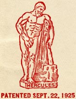 Hercules, a proprietary binding of the John C. Winston Co, Philadelphia, Pennsylvania (26mm x 34mm, ca.1926)