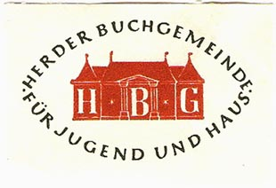 Herder Buchgemeinde [Catholic book club], Freiburg i.B., Germany (approx 50mm x 35mm)