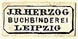 J.R. Herzog, Buchbinderei, Leipzig, Germany (12mm x 5mm). Courtesy of S. Loreck.