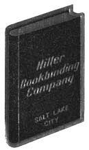 Hiller Bookbinding Co., Salt Lake City, Utah (19mm x 33mm). Courtesy of Robert Behra.
