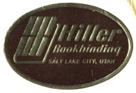 Hiller Bookbinding Co., Salt Lake City, Utah (32mm x 21mm). Courtesy of Robert Behra.