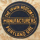 The Irwin Hodson Co, Manufacturers, Portland, Oregon (21mm dia.)