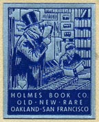 Holmes Book Co., Oakland & San Francisco, California (23mm x 29mm, ca.?)