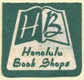 Honolulu Book Shops, Honolulu, Hawaii (20mm x 19mm)