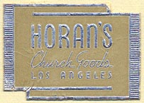 Horan's Church Goods, Los Angeles (33mm x 24mm)p. Courtesy of Donald Francis.