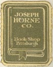 Joseph Horne Co., Pittsburgh, Pennsylvania (approx 17mm x 22mm)
