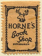 Horne's Book Shop, Pittsburgh, Pennsylvania (23mm x 32mm)