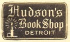 Hudson's Book Shop, Detroit, Michigan (22mm x 13mm)