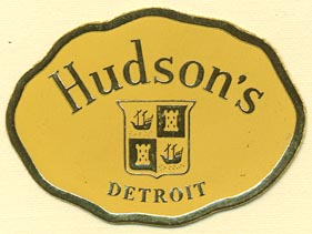 Hudson's Book Shop, Detroit, Michigan (46mm x 34mm)