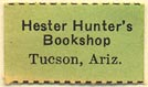 Hester Hunter's Bookshop, Tucson, Arizona (21mm x 12mm)