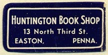 Huntington Book Shop, Easton, Pennsylvania (35mm x 17mm)