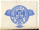 International Brotherhood of Bookbinders (21mm x 16mm, ca.1957). Courtesy of Robert Behra.