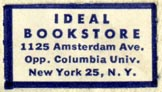 Ideal Bookstore, New York, NY (26mm x 14mm). Courtesy of Robert Behra.