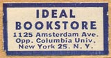 Ideal Bookstore, New York, NY (26mm x 13mm, ca.1948).