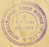 International Book House, Bombay, India (26mm dia.). Courtesy of Robert Behra.
