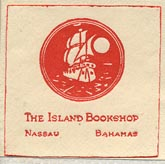 The Island Bookshop, Nassau, Bahamas (26mm x 26mm, ca.1953).