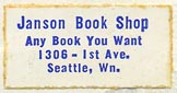 Janson Book Shop, Seattle, Washington (26mm x 13mm, ca.1968)