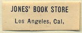 Jones' Book Store, Los Angeles, California (27mm x 10mm)