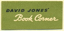 David Jones' Book Corner, Australia (36mm x 17mm). Courtesy of Donald Francis.
