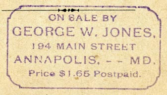 George W. Jones, Annapolis, Maryland (52mm x 29mm, ca.1909). Courtesy of Robert Behra.