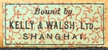 Kelly & Walsh, Ltd. [as binder], Shanghai, China (25mm x 11mm, ca.1900)