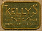 Kelly's Stationery - Gifts - Books, Oroville, California (23mm x 16mm)