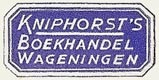 Kniphorst's Boekhandel, Wageningen, Netherlands (26mm x 12mm). Courtesy of S. Loreck.