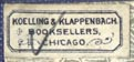 Koelling & Klappenbach, Chicago (19mm x 8mm)