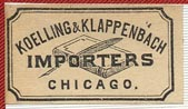 Koelling & Klappenbach, Chicago (27mm x 15mm)