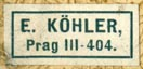 E. Kohler, Prague, Czechoslovakia [now Czech Rep.] (21mm x 10mm)