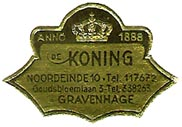 Koning, 's-Gravenhage [The Hague], Netherlands (29mm x 20mm)