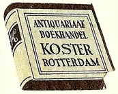 Koster, Antiquariaat - Boekhandel, Rotterdam, Netherlands (22mm x 22mm). Courtesy of S. Loreck.