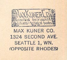 Max Kuner Co, Seattle, Washington (28mm x 24mm, ca.1965)