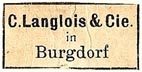 C. Langlois & Cie., Burgdorf, Switzerland (24mm x 12mm)