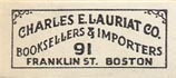 Charles E. Lauriat Co., Boston (26mm x 12mm)