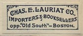 Chas. E. Lauriat Co., Boston (27mm x 11mm)
