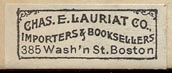 Chas. E. Lauriat Co., 385 Washington St., Boston (28mm x 11mm)