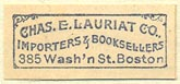 Charles E. Lauriat Co., Boston, Massachusetts (27mm x 12mm)