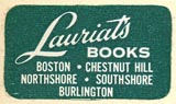 Lauriat's Books, Boston, Massachusetts (26mm x 14mm, ca.1968)