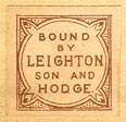 Leighton, Son & Hodge, London, England (18mm x 18mm, ca.1907?)