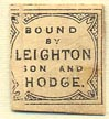 Leighton, Son & Hodge, London, England (14mm x 17mm, as is)